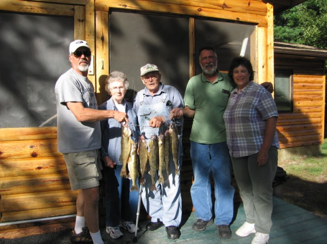 A nice feed of walleyes with Sonny and Betty