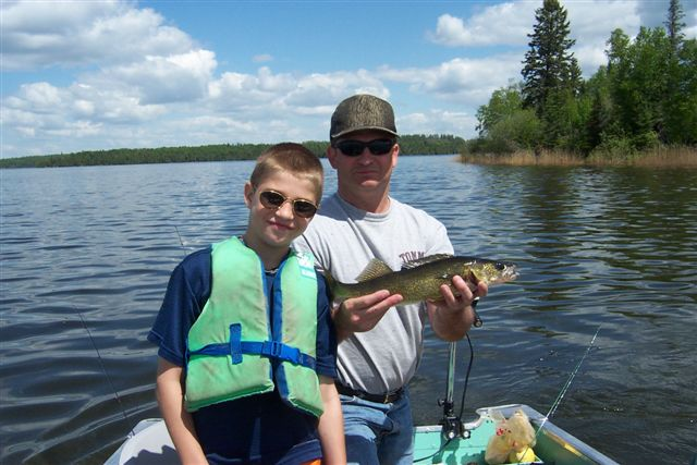 Keith and son out fishing