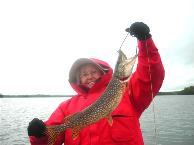 cold and rainy but good fishing