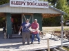 Happy fishermen at Sleepy Dog Cabins