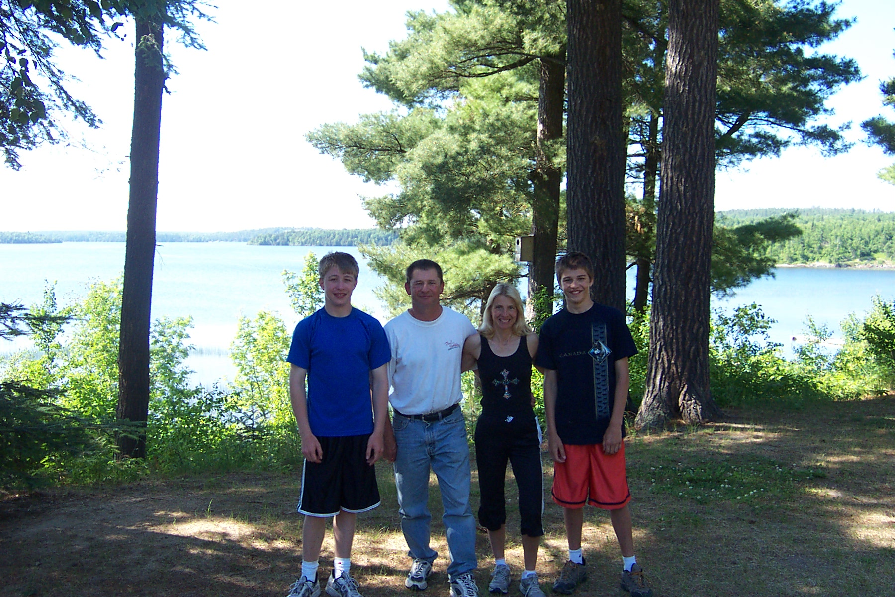 Keith and family at camp