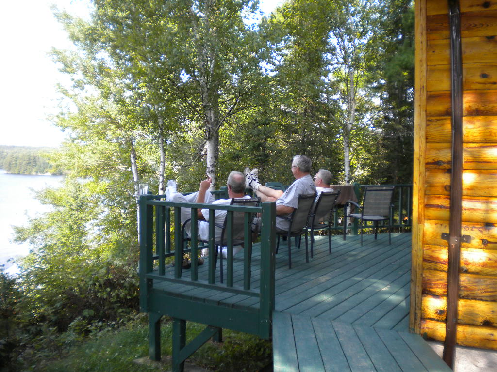 ....enjoying the view from Cabin 1