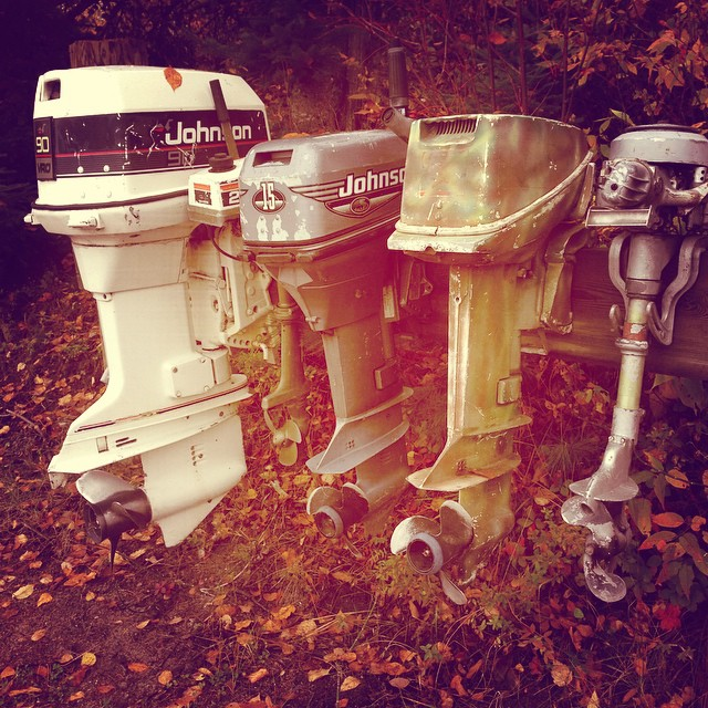 The Johnson rack   outboards
