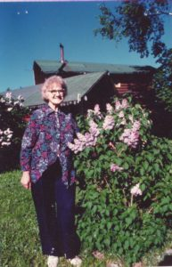 Mom and the Lilac bush